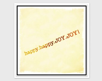 Congratulations Card, Celebration Card, New Job Card, Engagement and so much more - Happy Happy Joy Joy