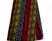 Mud Cloth Print / Black / Red / Yellow/ from Mali / African Fabric  Sold per Yard No. WP143