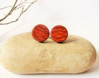 """Lacewood woodcuff links. Round wood cufflinks 5/8"""" (15mm) Gift for men"""
