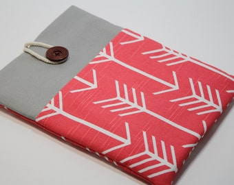 Microsoft Surface Pro 4 Case Microsoft Surface 3 sleeve Microsoft Surface Pro 4 Cover Padded Handmade Surface Pro Cover- Coral Arrows