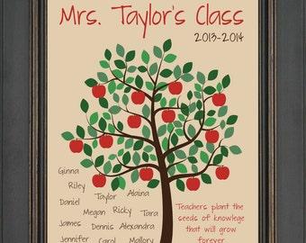 Custom TEACHER  Gift Print - Special Teacher Gift - Teacher Class Gift - Teacher Appreciation Gift - Christmas Gift - Back to School Gift
