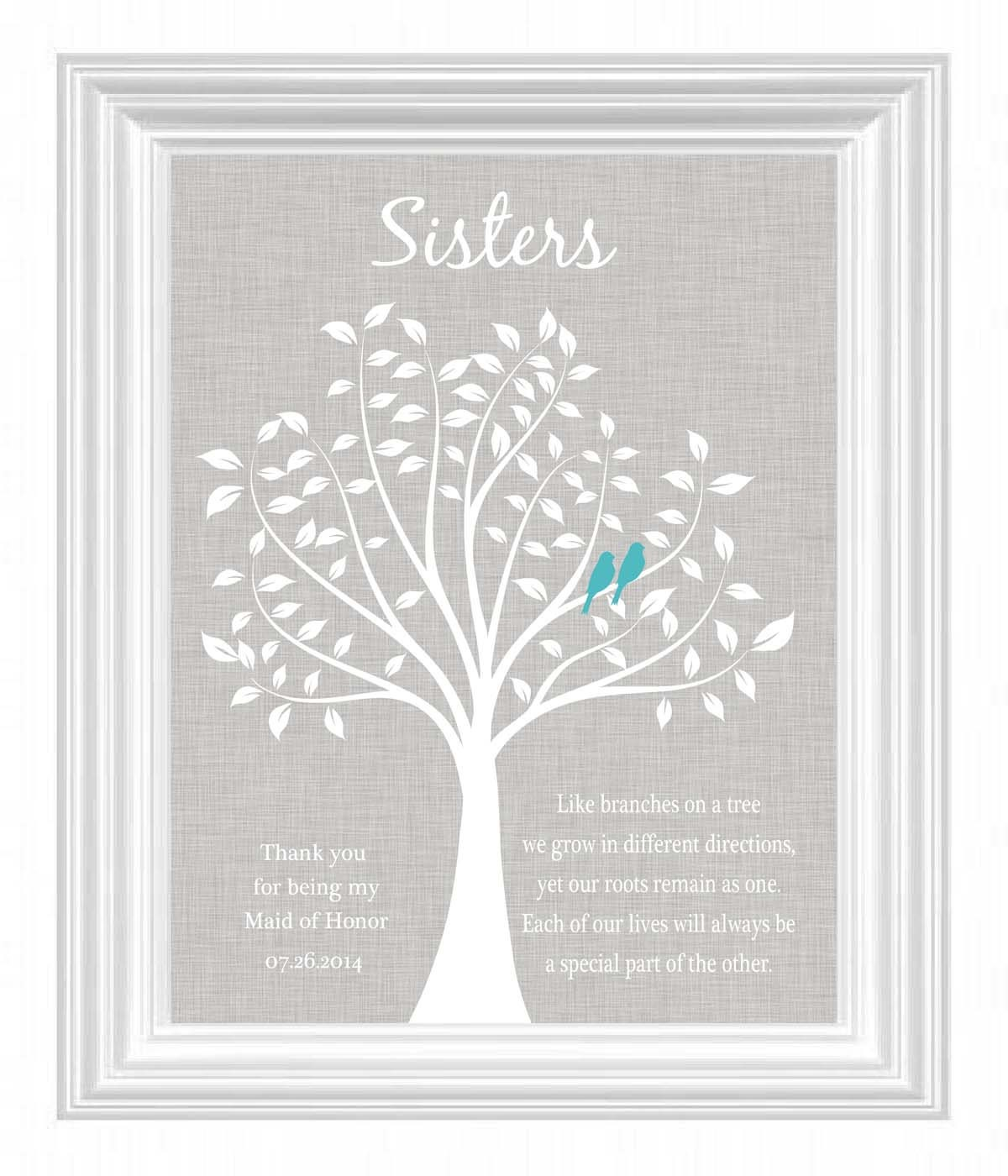 Sister Wedding Gifts: Sisters Personalized Gift Maid Of Honor Gift Wedding Gift