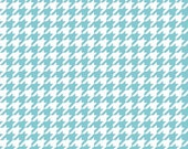 Aqua Houndstooth for Riley Blake  - 1 Yard - Cotton - Aqua and White Fabric - Aqua Blue Fabric - Houndstooth Fabric -  Modern Fabric