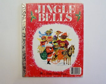 Jingle Bells Little Golden Book Based on the Traditional Christmas Carol, Christmas Song, Story Book, Vintage Children's Book