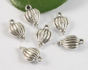 8pcs Tibetan silver two sides heart shaped charm pendant h0464
