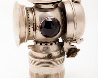 Badger Brass MFG Co. SOLAR bicycle acetylene lamp 1890's