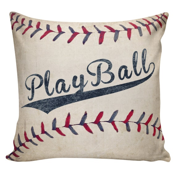 Play ball cushion covers baseball pillows boys pillows Baseball sofa