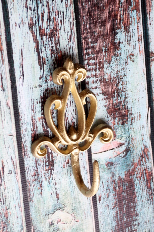cast iron wall hook victorian decorative coat rack metallic. Black Bedroom Furniture Sets. Home Design Ideas