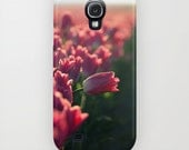 Tulip Field, BeYOUtiful! - Samsung Galaxy, iPhone, iPad, iPod, tablet case cover - Nature Photography, pink springtime tulips, RDelean
