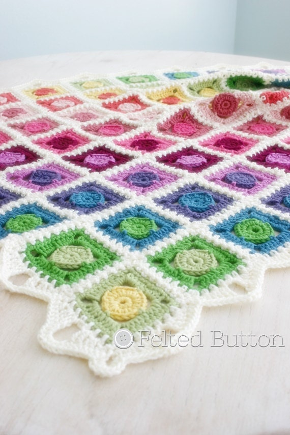 Crochet Pattern Circle Takes the Square Blanket Baby