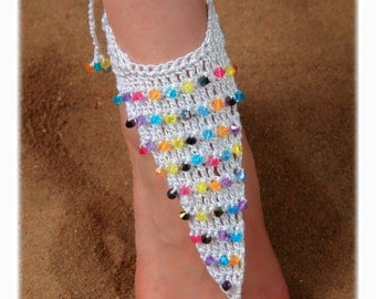 Jewelry Sets Foot and Hand Beading White