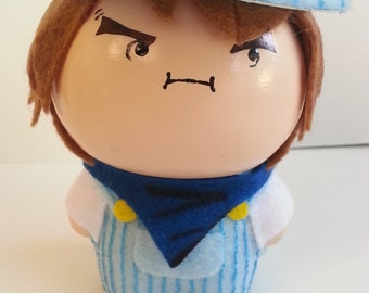 Chibi Figurine Inspired by Game Grump Ross   Game Grump Fan Art   Gift Idea for Gamer   Chibi Figurines   Collectible Art   Office Desk Deco
