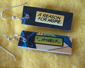 Comic Earrings - Hope in and for myself