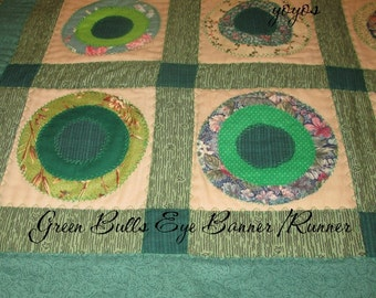 GREEN TABLE RUNNER Banner Country Cottage Chic Home Holiday Décor St Paddy