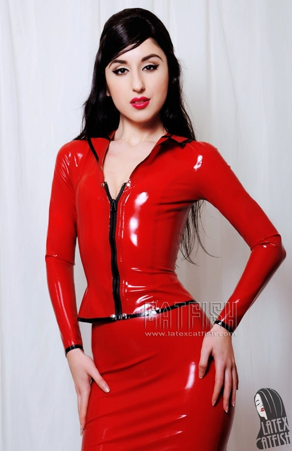 Sexy Cool Tight Lady Latex Outfit Latex Uniform