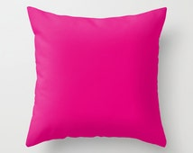 Red-Purple Pillow, #E40078, Solid Pink Pillow, Bright Pink Pillow, Hot Pink Pillow, Modern Pillow, Minimalist Decor, Minimalist Pillow