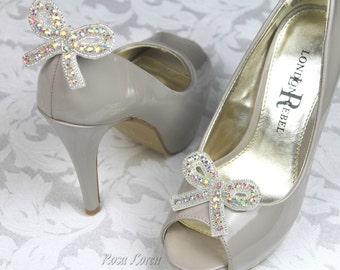 Rhinestone Bow Wedding Shoe Clip, Bridal Wedding Shoe Clips, Wedding Shoe Clip Rhinestone, Wedding Shoe Bows