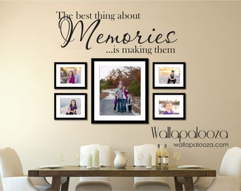 Family wall decal - Memories Wall Decal - Family decal - Family Room Decal - Picture wall decal - memories