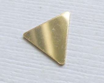 14k Gold Filled Triangle Stamping Blank -- 1 Piece --  24g No Holes -- HBGF257