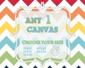 Choose Any One Art Print on Stretched CANVAS