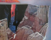 """Arizona Highways Revisited-   """" Between Earth and Sky, the Crevice """" One of a Kind Collage"""