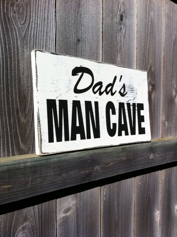 Garage Stuff For Guys : Dad s man cave sign gifts for men rustic wood by