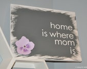 home is where mom is custom canvas wall art