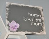 home is where mom is custom canvas wall art