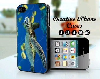 Green Sea Turtle phone case for iPhone 4/4S, iPhone 5, iPhone 5S, iPhone 5C