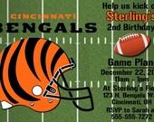 Cincinnati Bengals Football Invitations OR Thank you card