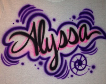 Items similar to custom airbrush t shirts on etsy for Custom made airbrushed shirts