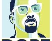 Kanyegram DOPE digital poster, navy + chartreuse PDF