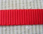 """5 yards of 5/8"""" Nylon Web, Gorgeous Red Medium Width All Nylon Webbing.  A lovely webbng style with many uses."""