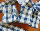 Country homespun primitive ribbon bundle.