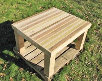 Reclaimed wood, coffee table, modern, pallet, butcher block