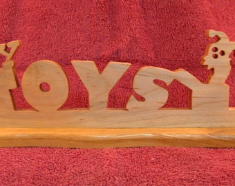 My Toys Table Top Wood Sign