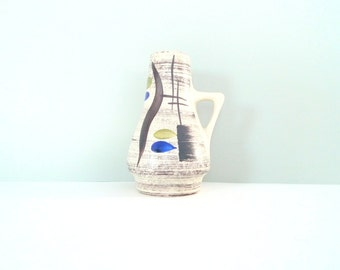 Bay Keramik West German Pottery - Vase 270-17 1960s Mid Century Modern Abstract Dekor