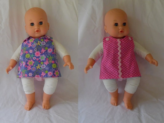 Reversible Doll Dress And Matching Diaper For Bitty Baby And