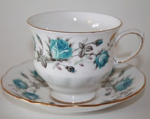 "Queen Anne Bone China Teacup and Saucer Set ""Pattern Number 8471"""