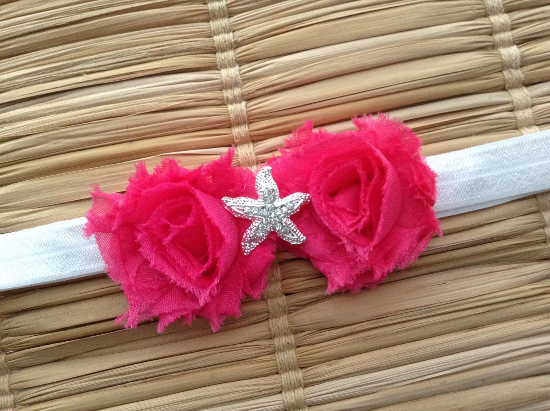 Starfish Headband Under the Sea Headband Pink by PetalBowtique