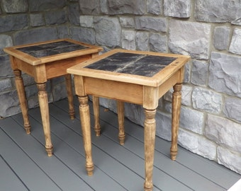 Slate top End tables/ night stands