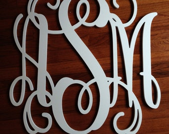 "24"" Wood Monogram, Wooden Wall Monogram, Nursery monogram,Home Decor, Wedding Decor"
