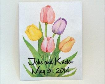 Tulip Wedding - Seed Packet - Flower Seed Packet - Tulip - Wedding Favor - Party Favor Seed Packet - Customized - Flower