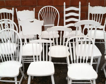 Dining Chairs, Mismatch Vintage Chair sets, Vintage, FREE SHIPPING, Farmhouse chairs, Distressed, Restaurant Chairs (Los Angeles)