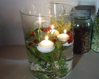 floating candles 10 water candles romantic easy centerpiece low cost wedding tabletop decor