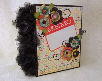 MEMO premade mini scrapbook envelope chipboard photo album
