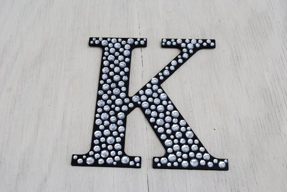 Sparkle Black Bling Decorative Wall Letters