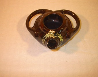 Pottery Oil Lamp, Vintage