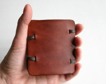 Magic Wallet. Slim Leather Wallet. Minimalist Wallet. Slim Wallet. Third Anniversary Gift for Boyfriend or Husband. Back to School for Son.