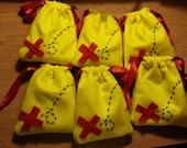 Pirate Loot Bags, Set of 6 / Jake Neverland